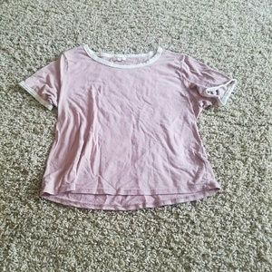 Tops - Pink and white tee shirt